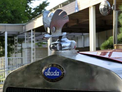 Skoda Auto Characters Antique Historically Logo
