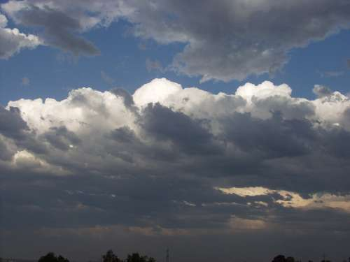 Sky Clouds Forward Landscape Nature