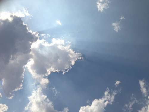 Sky Sun Clouds Blue