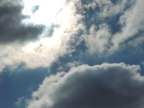Sky Clouds Sun Light Shadow