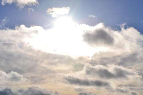Sky Clouds Sun Blue