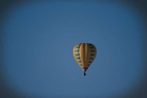 Sky Blue Balloon Hot Air Balloon Air Drive Basket