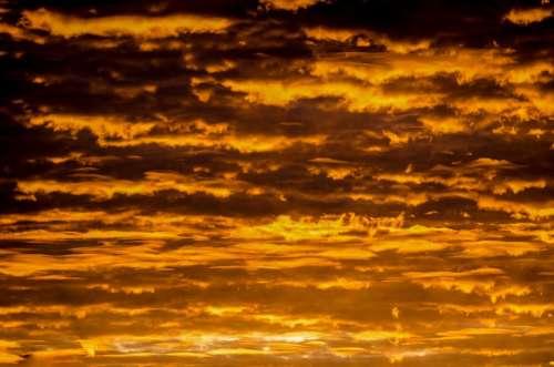 Sky Sunset Summer Gold Pattern Sunlight Sunbeam