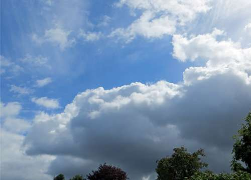 Sky Clouds Nature Dark Blue Weather Mood