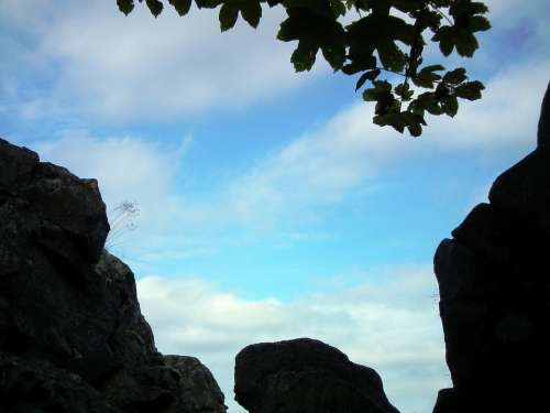Sky Rock Stone Landscape Nature Blue Mountains