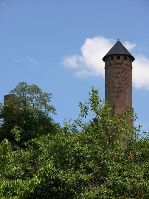 Sky Castle Tower Kirkel Landmark Germany Towers