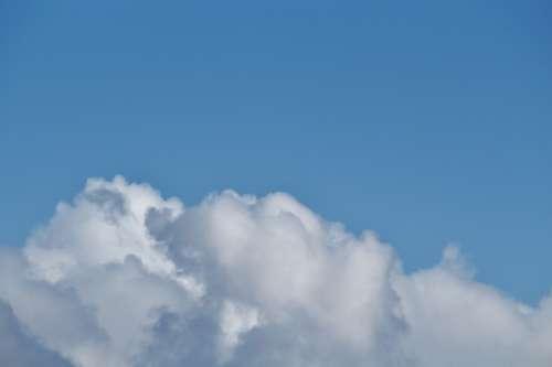 Sky Cloudscape White Blue Summer Clouds