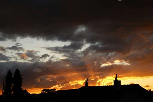 Sky Sunset Clouds Abendstimmung Romance Sun Blue
