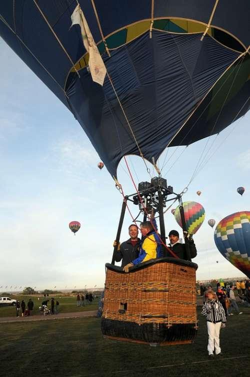 Sky Clouds Ballon Hot Air Balloon Colorful Nature