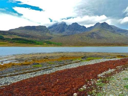 Skye Blue Skye Mountain Background View Landscape