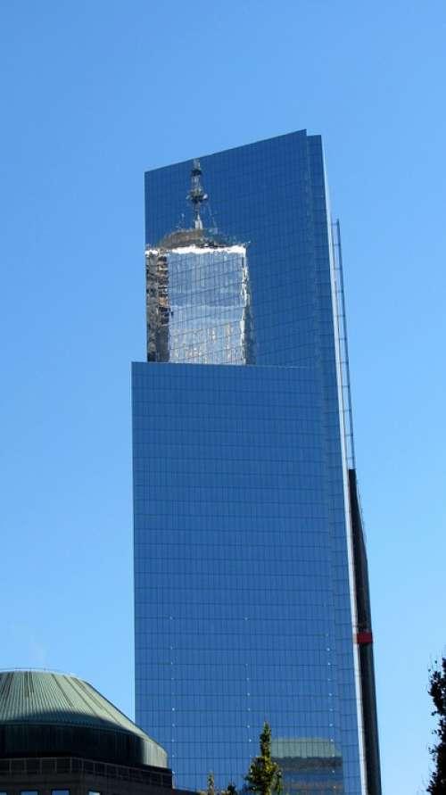 Skyscraper One World Trade Center Mirroring