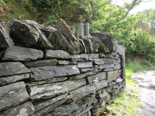 Slate Wall Stone Wall Old Wall Scotland