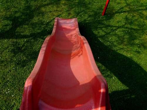Slide Playground Red Playset Fun Children'S