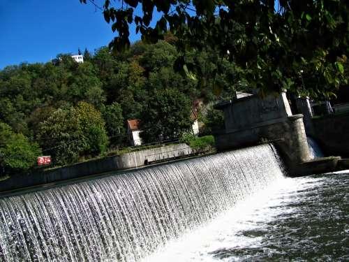 Sluice Waterfall Natural Water Nature Liquid