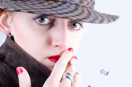Smoke Young Human Model Adult People Cigarette