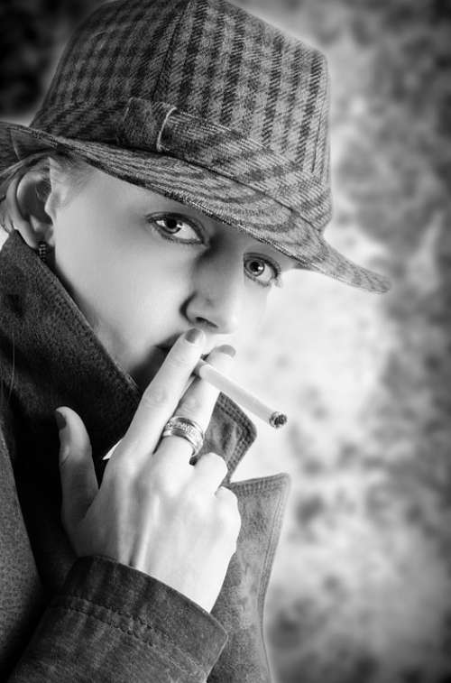 Smoke Young Human Model Adult People Cigarette