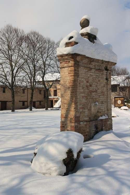 Snow Winter Fontana