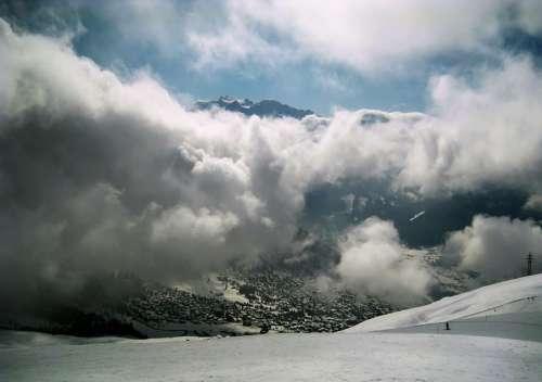 Snow Alpine Winter White Mountains Cold Snowfield