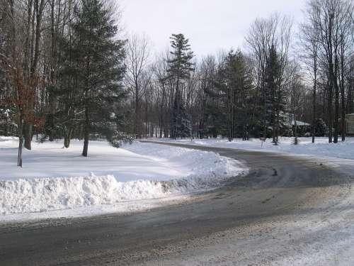 Snow Winter Road Snow Slush Slush Icy Slippery