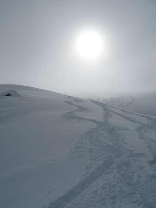 Snow Winter Steps Traces Sun White Landscape