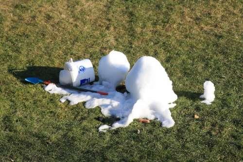 Snow Snowman Snow Melt