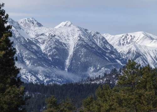 Snow Covered Mountain Pemberton British Columbia