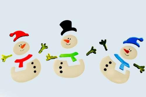 Snowman Snowmen Decorations Color Christmas Xmas
