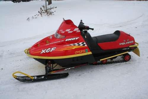 Snowmobile Winter Snow Cold Sport Leisure