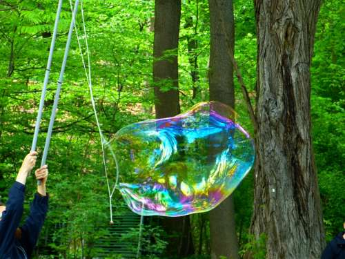 Soap Bubble Flying Weightless Shimmer Float Airy