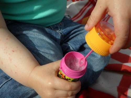 Soap Bubbles Soap Play Child Blow Small Child