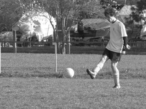 Soccer Sports Ball Kick Man