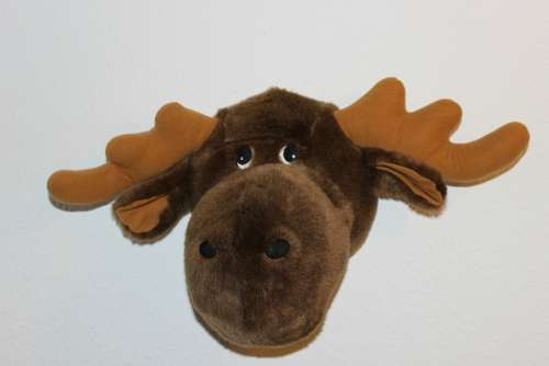 Soft Toy Moose Head Stuffed Animal Toys Teddy Bear