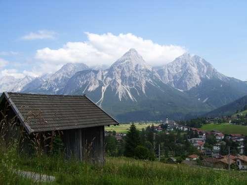 Sonnespitze The Alps Mountains Landscape