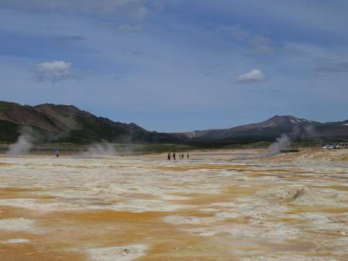 Sources Of Hot Thermal Springs Geothermal Iceland