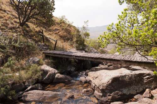 South Africa Landscape Bridge River