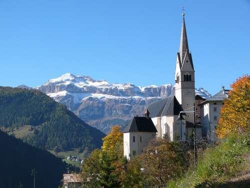 South Tyrol Dolomites Church Steeple