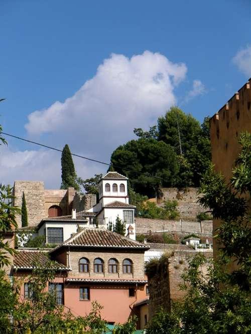 Spain Mountain Buildings Landscape Buildings