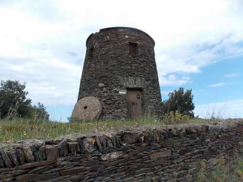 Spain Tower Building Cadaqués Wall Historically