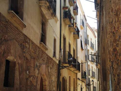Spain Tarragona Street Window Architecture
