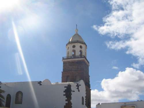 Spain Lanzarote Church Places Of Interest Building