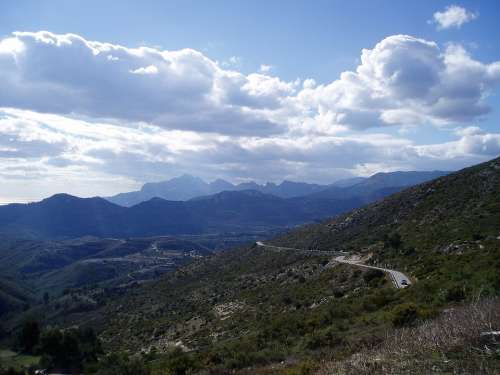 Spanish Mountain Road Mountain Road View Vista