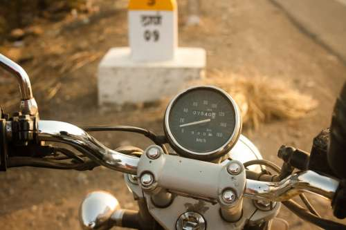 Speedometer Bike Motorcycle Travel Metal Adventure