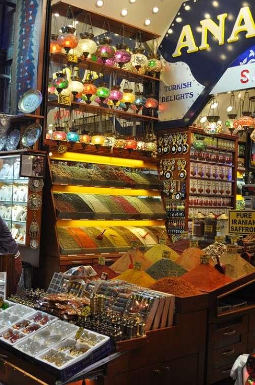 Spices Market Market Stall Spice Market
