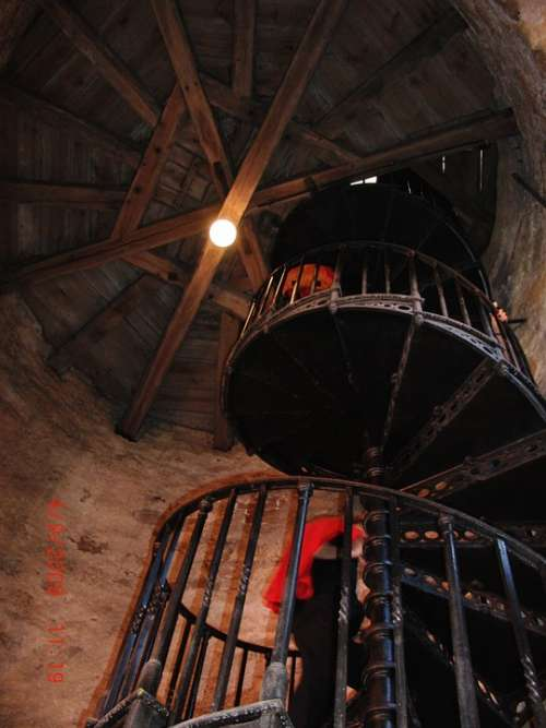 Spiral Staircase Iron Railing Rise Architecture