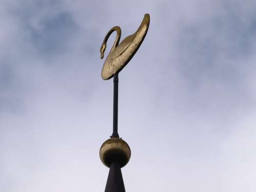 Spire Weather Vane Figure Metal Gold