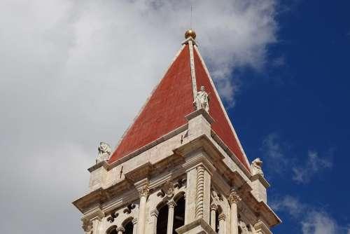Spire Croatia Trogir Steeple Unesco Church Europe