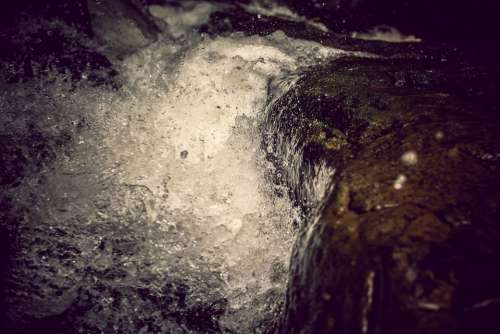 Splash Waterfall Stones Mountains Water Rock