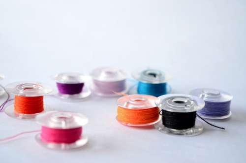 Spools Thread Sewing Sew Textile Needlework Craft