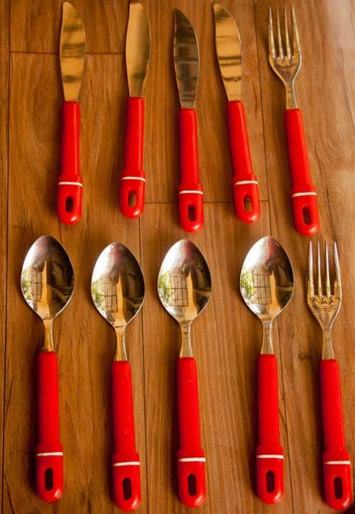 Spoon Fork Knife Dishes Silverware Restaurant