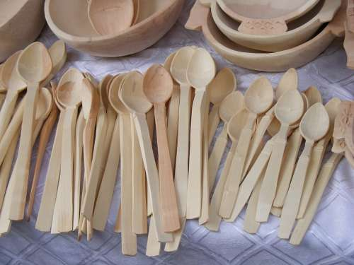 Spoons Dishes Wood Romanian Sculpture Woodworks